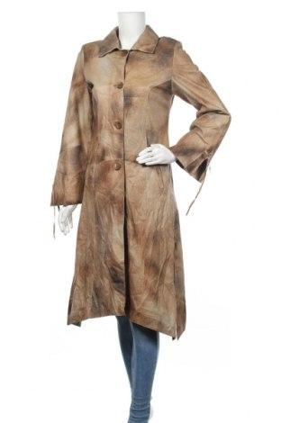 Дамско кожено палто Avento, Размер S, Цвят Бежов, Естествена кожа, Цена 85,68лв.