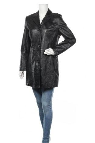 Дамско кожено палто Balance, Размер M, Цвят Черен, Естествена кожа, Цена 73,92лв.