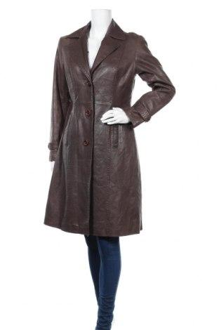 Δερμάτινο γυναικείο παλτό Fabiani, Μέγεθος M, Χρώμα Καφέ, Γνήσιο δέρμα, Τιμή 28,29€