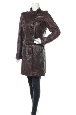 Δερμάτινο γυναικείο παλτό Gipsy, Μέγεθος L, Χρώμα Καφέ, Γνήσιο δέρμα, Τιμή 60,27€