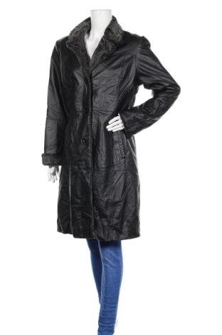 Дамско кожено палто Morena, Размер L, Цвят Черен, Естествена кожа, Цена 78,54лв.