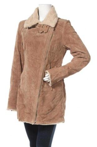 Дамско кожено палто Oakwood, Размер L, Цвят Кафяв, Естествен велур, Цена 58,91лв.