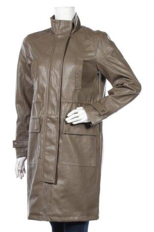Дамски кожен шлифер Vero Moda, Размер S, Цвят Зелен, Еко кожа, Цена 26,88лв.