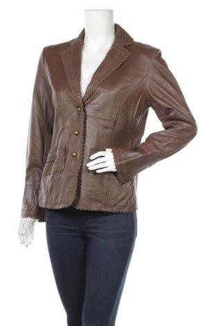 Γυναικείο δερμάτινο σακάκι, Μέγεθος M, Χρώμα Καφέ, Γνήσιο δέρμα, Τιμή 14,55€