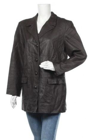 Дамско кожено сако, Размер XL, Цвят Кафяв, Естествена кожа, Цена 67,83лв.