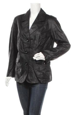 Γυναικείο δερμάτινο σακάκι, Μέγεθος XL, Χρώμα Μαύρο, Γνήσιο δέρμα, Τιμή 20,52€