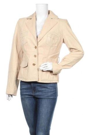 Γυναικείο δερμάτινο σακάκι Bata, Μέγεθος L, Χρώμα  Μπέζ, Γνήσιο δέρμα, Τιμή 59,23€