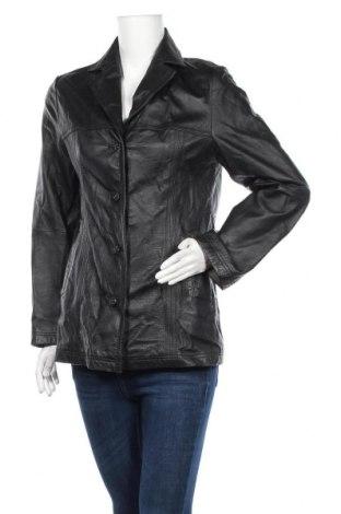 Дамско кожено сако Canda, Размер S, Цвят Черен, Естествена кожа, Цена 22,89лв.