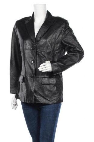Γυναικείο δερμάτινο σακάκι Gerry Weber, Μέγεθος L, Χρώμα Μαύρο, Γνήσιο δέρμα, Τιμή 64,17€