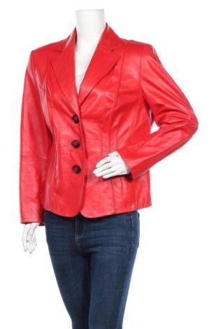 Дамско кожено сако Gerry Weber, Размер L, Цвят Червен, Естествена кожа, Цена 81,90лв.