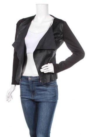 Дамско кожено сако Janina, Размер S, Цвят Черен, Полиестер, еко кожа, Цена 35,91лв.