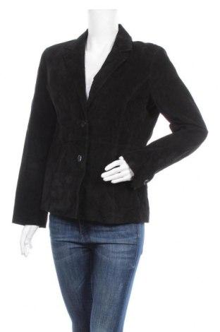 Γυναικείο δερμάτινο σακάκι Liz Claiborne, Μέγεθος M, Χρώμα Μαύρο, Φυσικό σουέτ, Τιμή 15,23€