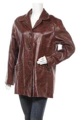 Γυναικείο δερμάτινο σακάκι SAKI, Μέγεθος XL, Χρώμα Καφέ, Γνήσιο δέρμα, Τιμή 17,73€