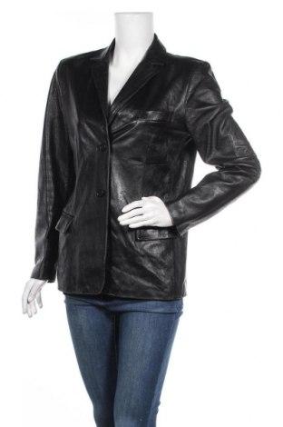Дамско кожено сако Vera Pelle, Размер XL, Цвят Черен, Естествена кожа, Цена 34,02лв.