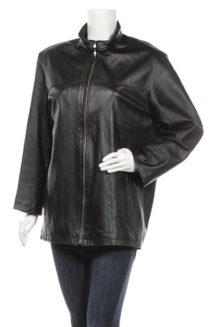 Дамско кожено яке, Размер XXL, Цвят Черен, Естествена кожа, Цена 86,10лв.