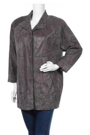 Дамско кожено яке, Размер M, Цвят Сив, Естествена кожа, Цена 81,27лв.