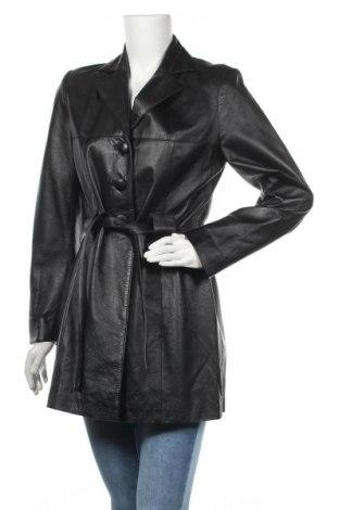 Γυναικείο δερμάτινο μπουφάν, Μέγεθος M, Χρώμα Μαύρο, Γνήσιο δέρμα, Τιμή 50,60€