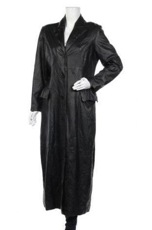 Дамско кожено палто, Размер L, Цвят Черен, Естествена кожа, Цена 92,40лв.