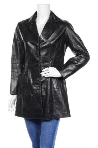 Дамски кожен шлифер, Размер S, Цвят Черен, Естествена кожа, Цена 57,65лв.