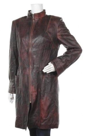 Дамско кожено яке, Размер M, Цвят Кафяв, Естествена кожа, Цена 98,70лв.