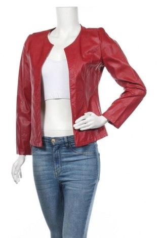 Дамско кожено яке, Размер S, Цвят Червен, Еко кожа, Цена 21,15лв.