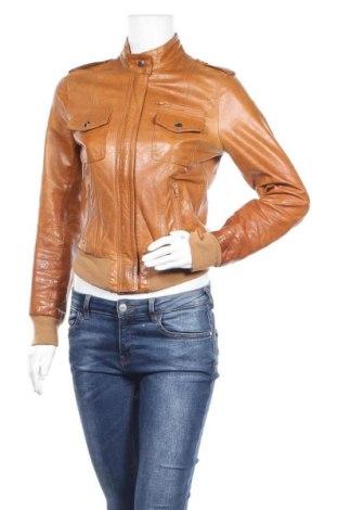 Дамско кожено яке, Размер S, Цвят Кафяв, Естествена кожа, Цена 74,66лв.