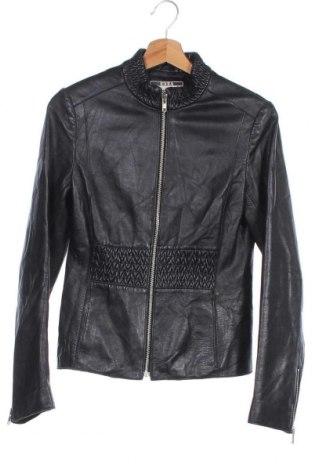 Дамско кожено яке, Размер XS, Цвят Черен, Естествена кожа, Цена 82,95лв.