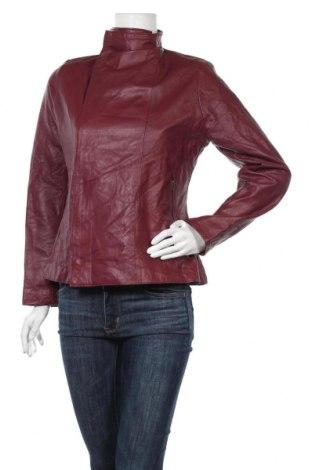 Дамско кожено яке, Размер M, Цвят Червен, Естествена кожа, Цена 46,20лв.