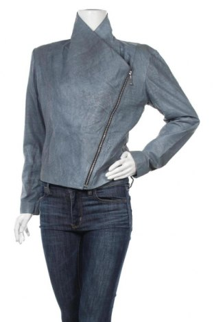 Γυναικείο δερμάτινο μπουφάν, Μέγεθος M, Χρώμα Μπλέ, Γνήσιο δέρμα, Τιμή 31,43€