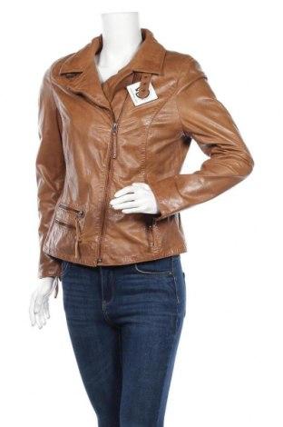 Дамско кожено яке, Размер L, Цвят Кафяв, Естествена кожа, Цена 134,40лв.