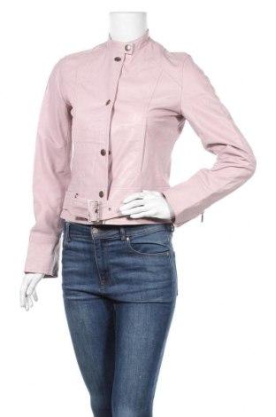 Γυναικείο δερμάτινο μπουφάν, Μέγεθος S, Χρώμα Ρόζ , Γνήσιο δέρμα, Τιμή 33,91€
