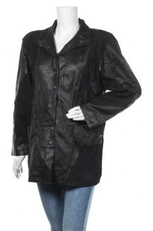Дамско кожено яке, Размер S, Цвят Черен, Естествена кожа, Цена 36,04лв.