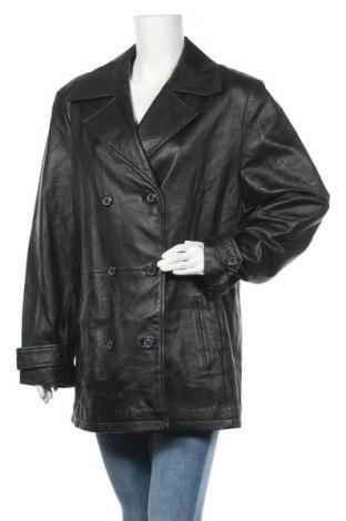 Γυναικείο δερμάτινο μπουφάν, Μέγεθος XL, Χρώμα Μαύρο, Γνήσιο δέρμα, Τιμή 15,43€