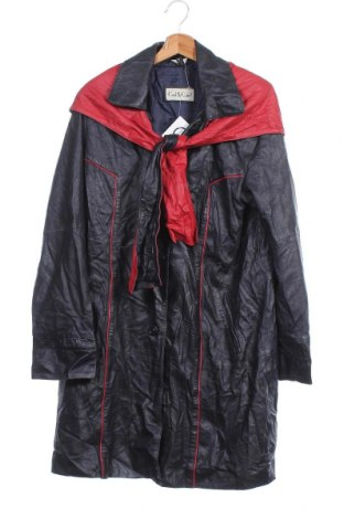 Дамско кожено яке, Размер XS, Цвят Син, Естествена кожа, Цена 65,10лв.