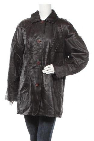 Дамско кожено яке, Размер XL, Цвят Черен, Естествена кожа, Цена 16,38лв.
