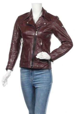 Дамско кожено яке, Размер M, Цвят Червен, Естествена кожа, Цена 77,70лв.