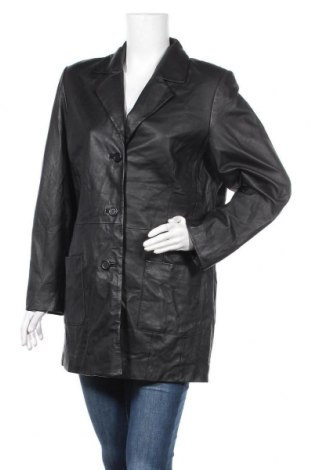 Дамско кожено яке, Размер XL, Цвят Черен, Естествена кожа, Цена 22,05лв.