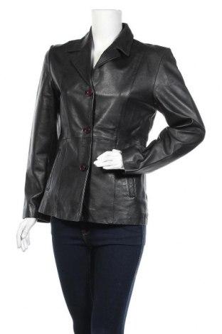 Дамско кожено яке, Размер S, Цвят Черен, Естествена кожа, Цена 21,53лв.