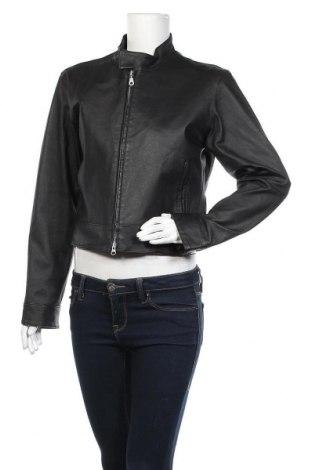 Γυναικείο δερμάτινο μπουφάν, Μέγεθος M, Χρώμα Μαύρο, Γνήσιο δέρμα, Τιμή 20,26€