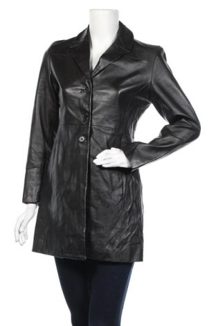 Γυναικείο δερμάτινο μπουφάν, Μέγεθος M, Χρώμα Μαύρο, Γνήσιο δέρμα, Τιμή 17,73€