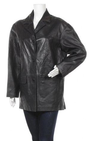 Дамско кожено яке, Размер XL, Цвят Черен, Естествена кожа, Цена 22,84лв.