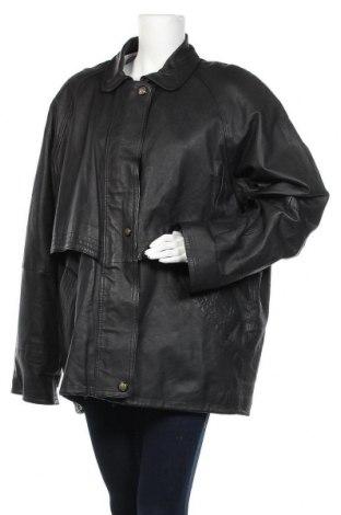 Дамско кожено яке, Размер XXL, Цвят Черен, Естествена кожа, Цена 20,48лв.