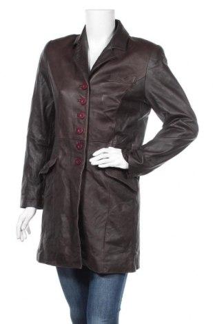 Дамско кожено яке, Размер M, Цвят Кафяв, Естествена кожа, Цена 14,28лв.