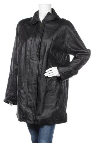 Γυναικείο δερμάτινο μπουφάν, Μέγεθος L, Χρώμα Μαύρο, Γνήσιο δέρμα, Τιμή 14,55€