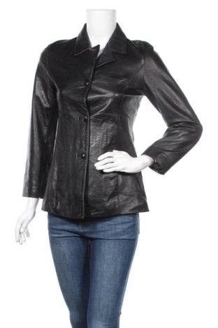 Дамско кожено яке, Размер S, Цвят Черен, Естествена кожа, Цена 77,65лв.