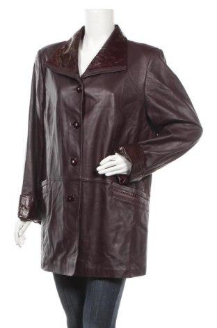 Дамско кожено яке, Размер XL, Цвят Кафяв, Естествена кожа, Цена 29,03лв.