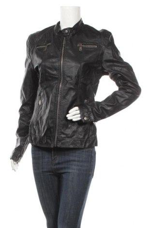Γυναικείο δερμάτινο μπουφάν, Μέγεθος L, Χρώμα Μαύρο, Δερματίνη, Τιμή 19,32€