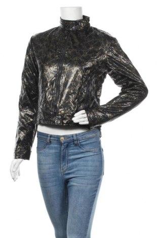 Дамско кожено яке, Размер M, Цвят Черен, Еко кожа, Цена 41,58лв.