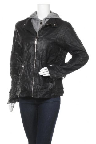 Дамско кожено яке, Размер XL, Цвят Черен, Еко кожа, Цена 39,90лв.
