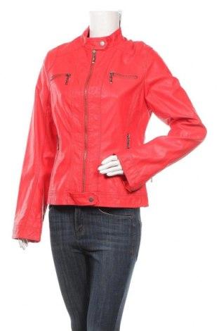 Дамско кожено яке, Размер L, Цвят Червен, Еко кожа, Цена 32,13лв.